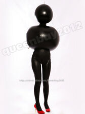 100% Latex Rubber Gummi 0.8mm Inflatable Catsuit Zentai Ball Costume Outfit New