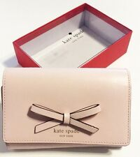 NWT KATE SPADE SAWYER STREET CALLIE LEATHER TRIFOLD WALLET BALLET SLIPPER PINK