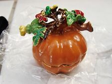 Art Form Fine Pepson maximus The great Pumpkin Jeweled Trinket Box w/ box