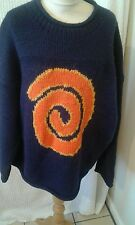 Pachamama hippy swirl chunky baggy Jumper wool  chest 50 size XL