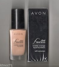 **AVON*IDEAL FLAWLESS LIQUID FOUNDATION WITH SUNSCREEN*30G*NATURAL BEIGE**NEW**