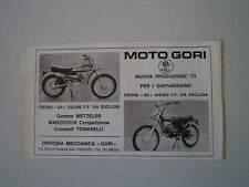 advertising Pubblicità 1973 MOTO GORI 50 CROSS G4/G5
