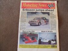 Motoring News 20 February 1991 Daytona 500 Snowman & Swedish Rally Scott Pruett