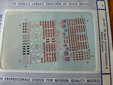Microscale Decal N  #60-445 WP / UP Cabooses - UP Style with Black Outlined Lett