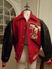 DELONG vintage 70's varsity cross country jacket metals wool men's 34 unisex