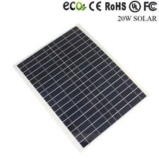 20W Polycrystalline Solar Panel Module 12V Battery Charger Boat Camping US STOCK