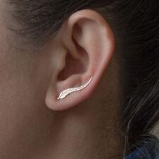 Women Sweep Wrap Silver/Gold - Lady Ear Climber Leafs Ear Cuffs Earrings Gold