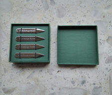 4 stainless steel shirt collar stiffeners / stays-luxury green presentation box