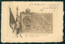 Militari II Reggimento Piemonte Cavalleria Regina Margherita cartolina XF1859