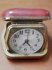 vecchia sveglia da viaggio STELLA 2 jewels portatile orologio da comodino epoca