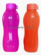 TUPPERWARE Eco Neon Water Bottles 1000 ml ( 1 Ltr ) - Set of 2 - Neon colors