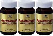 3 x Astaxanthin Powerful Cartenoid Antioxidant 10 mg 180 Softgels 6 month supply