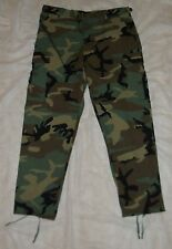 """BDU TROUSERS """"GI WOODLAND CAMOUFLAGE RIPSTOP"""" 2003. 50/50 NYCO, LRG/REG, NWOT'S!"""