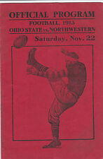 1913 Ohio State vs Northwestern - Full Program - RARE, only 1 in existence