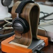 Headphone Stand Wooden Walnut U Shape For Most Larger Size Headphones