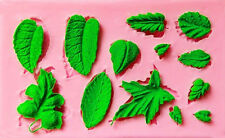Assorted Leaves 13 Cavity  Silicone Mold for Fondant, GP,  Chocolate, Crafts