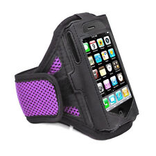 iPhone 4 4S Purple Strong ArmBand Case Cover For SPORTS GYM BIKE JOGGING RUNNING
