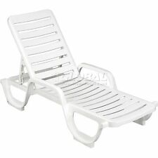 Grosfillex Adjustable Resin Chaise - White
