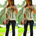 Sexy Womens Short Sleeve Loose Summer Casual Shirts Blouses T Shirt Tops Blouse