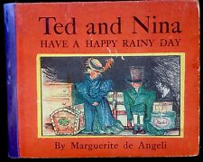 TED & NINA Have A Happy Rainy Day by Angeli ~Vintage Children's Book ~ RARE!!!