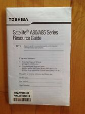 Toshiba Satellite A80/ A85 Series Resource Guide Sealed / Unopened
