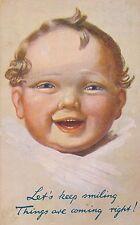 POSTCARD  CHILDREN  Let's  keep  smiling......  Tuck
