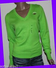 Hollister Co. Bettys Womens GREEN V-Neck Pull-Over Cardigan Sweater SMALL S