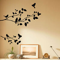 Tree &  Bird  Wall  Art  Stickers Vinyl  Decals  Graphics       005