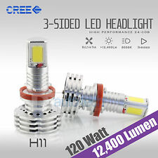 120W 12400LM CREE LED H11 Headlight Kit Low Beam Bulbs 6000K White High Power