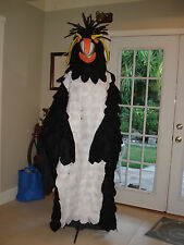 ROCKHOPPER PENQUIN ADULT HOMEMADE HANDCRAFTED BIRD HALLOWEEN COSTUME
