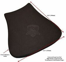 Foam Universal Seat Pad Motorcycle Racing 16mm Thick Black Adhesive Backing