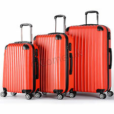 Set Of 3 Piece Travel Luggage Wheel Trolley Suitcase Bags Hard Shell Size S/M/L