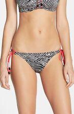 NWT Freya 'Zulu' Side Tie Bikini Bottoms Zebra [ Large ] #383