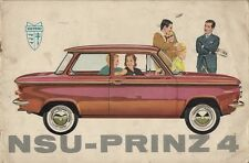 NSU Prinz 4 1961-62 UK Market Sales Brochure