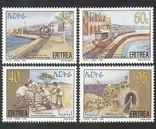 Eritrea 1997 Trains/Rail/Railway/Steam Engine/Locomotive/Transport 4v set n36530