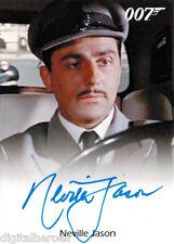 James Bond 007 Autograph & Relics 2013 Card Neville Jason as Chauffeur