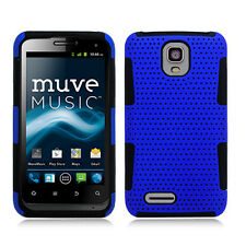 For ZTE Engage LT MESH Hybrid Silicone Rubber Skin Case Phone Cover Blue