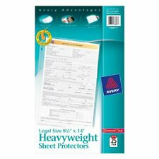 "Avery Legal Size Heavyweight Sheet Protectors - 1 Sheet Capacity - Legal 8.50"" X"