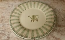 "Pfaltzgrafff Naturewood Sage Green Lunch Salad Dessert Plates 8"" Water can"