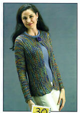 OCEANSIDE CARDIGAN by CINDY BROOKS for FIESTA YARNS - KNITTING PATTERN LEAFLET