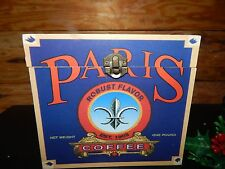 Coffee Paris, South America's Best Wooden Advertising box Red White & Blue 7 x 7