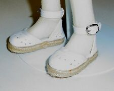 "Monique DOLL Shoes, BJD ""Little Miss Candy"" fit Kaye Wiggs Layla, 63mm - WHITE"