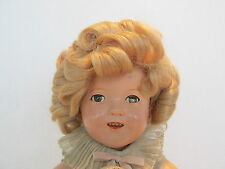 "SHIRLEY TEMPLE COMPOSITION 11"" ALL ORIGINAL - IDEAL -W/PIN AND TAGGED CLOTHES"