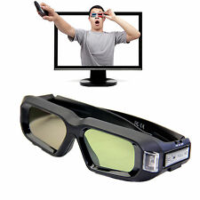 Active Shutter Rechargeable 3D Glasses 144Hz for BenQ DLP-Link IR Samsung DELL