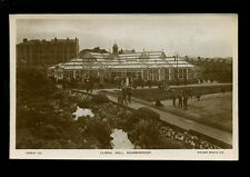 Yorkshire SCARBOROUGH Floral Hall bowling used c1920 RP PPC by Rotary