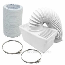 100cm Hose Condenser Box Extra Long Pipe & Clips for HOWDENS Tumble Dryer