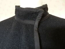 SOLD OUT Lanvin  BLACK BOILED WOOL CLOTH COAT  RRP £1665  Size 38 UK 10