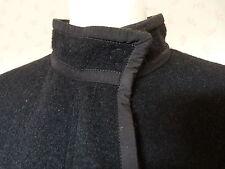 Lanvin  BLACK BOILED WOOL CLOTH COAT  RRP £1665  Size 38 UK 10