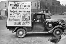 Reefer Madness photo 1930s Motion Picture Ad truck Perils of Marijuana Usage