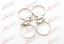 4 Pcs Stainless Steel Adjustable Drive Hose Clamps Fuel Line Worm Clips25mm-40mm
